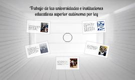 Trabajo de las universidades e instituciones educativas supe