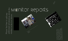 Monitor Reports