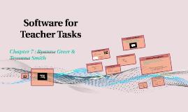 Software for Teacher Tasks