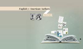 English 7 - American Authors