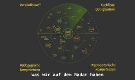 Was wir auf dem Radar haben