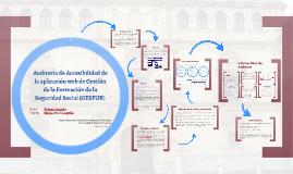 Auditoría de Accesibilidad de la aplicación web de Gestión de la Formación de la Seguridad Social (GESFOR)