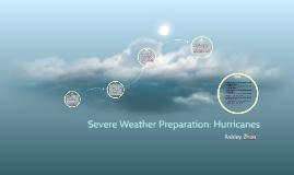 Severe Weather Preparation