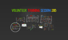 Copy of VOLUNTEER TRAINING SESSION 2013