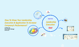 Copy of How To Show Your Leadership & Execution, And Actual  Applica