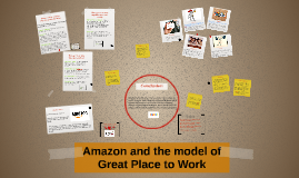 Amazon and the model of Great Place to Work