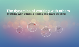 The dynamics of working with others