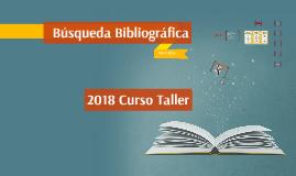 TALLE 2018 MBE BUSQUEDA BIBLIOGRAFICA