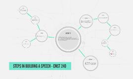 STEPS IN BUILDING A SPEECH - CMST 240