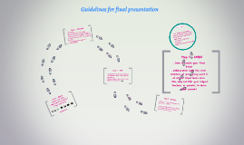 Guidelines for final presentation