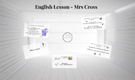 English Lesson - Mrs Cross