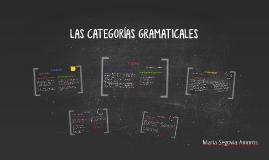 Copy of LAS CATEGORÍAS GRAMATICALES