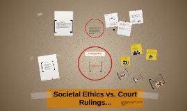 How societal ethics tend to contrast Legal rulings.