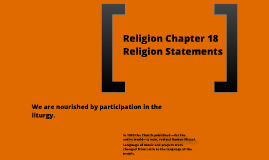 Religion Chapter 18 Faith Statements