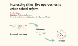 Interesting cities: five approaches to urban school reform