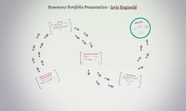 Summary Portfolio Presentation - Jorie siegwald