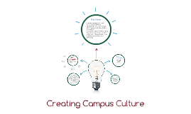 Creating Campus Culture