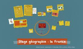 Stage géographie la France.