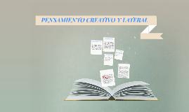 PENSAMIENTO CREATIVO Y LATERAL