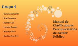 Manual de Clasificadores Presupuestarios del Sector Público