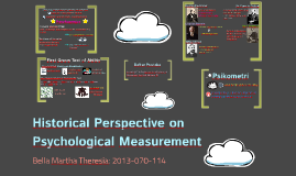 Historical Perspective on Psychological Measurement