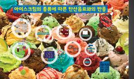 아이스크림의 종류에 따른 탄산음료와의 반응