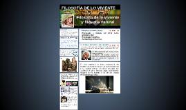 FILOSOFÍA DE LO VIVIENTE