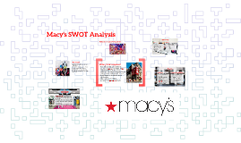 macys swot analysis The macy's, inc - strategy and swot analysis report by decisiondatabasescom offers an insightful study of the company's recent developments, swot analysis, and its financial & operational strategies.
