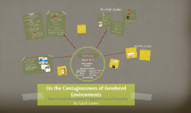 On the Contagiousness of Gendered Environments