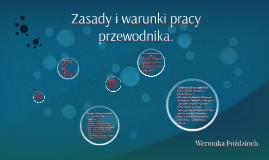 Zasady i warunki pracy przewodnika.