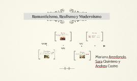 Romanticismo, Realismo y Modernismo