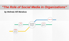"""The Role of Social Media in Organizations"""