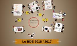 Le BDE 2016 / 2017