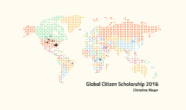 Global Citizen Scholarship 2015