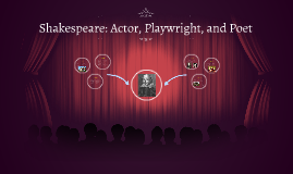 Shakespeare: Actor, Playwright, and Poet