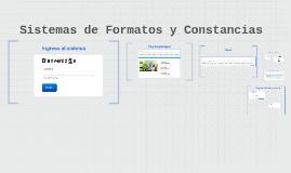 Sistemas de Formatos y Constancias