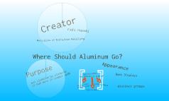 Where should aluminum go?