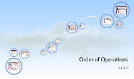 Order of Operations: Set C