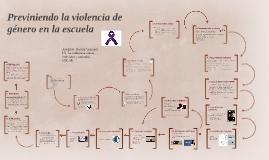 Previniendo la violencia de género en la escuela