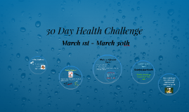 30 Day Health Challenge