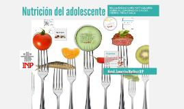 Nutrición del adolescente