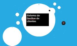 Sistema de Gestion de clientes