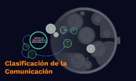Clasificación de la Comunicación