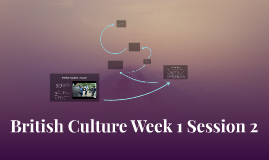 British Culture Week 1 Session 2