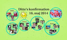 Ditte's konfirmation