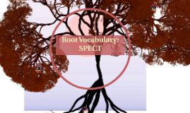 Root Vocabulary: SPECT