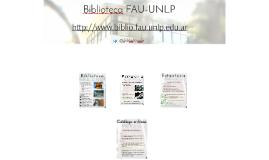 Biblioteca FAU-UNLP: estantería abierta y catálogo