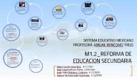 REFORMA DE EDUCACION SECUNDARIA