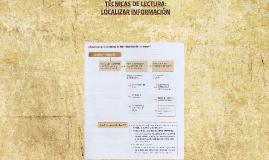 TÉCNICAS DE LECTURA: