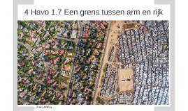 4 Havo 1.7 Een grens tussen arm en rijk